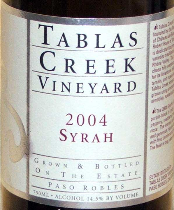 TC Syrah 04 syrah rousanne paso robles gamay chardonnay burgundy beaujolais 