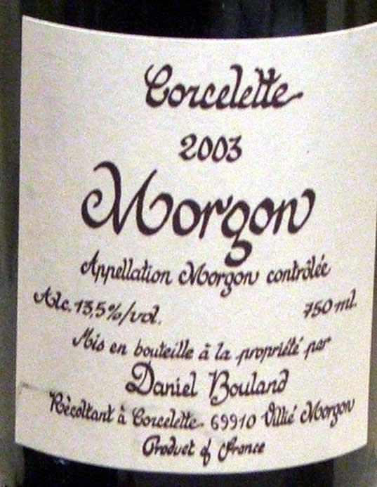 corcelette morgon 03 syrah rousanne paso robles gamay chardonnay burgundy beaujolais